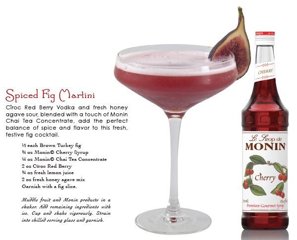 monin spiced fig cocktail recipe