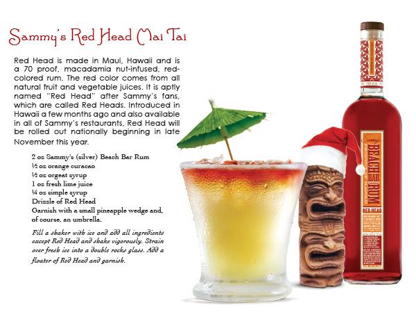 sammy's beach bar rum - red head mai tai