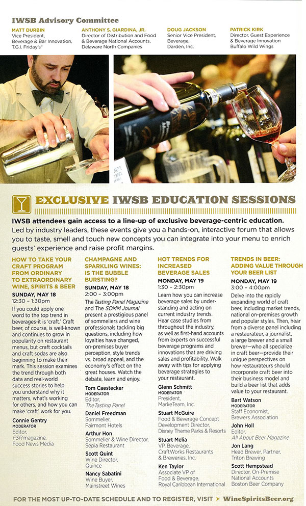 top beverage trends - national restaurant association tradeshow sessions