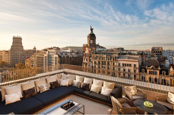 Mandarin Oriental Barcelona penthouse terrace.