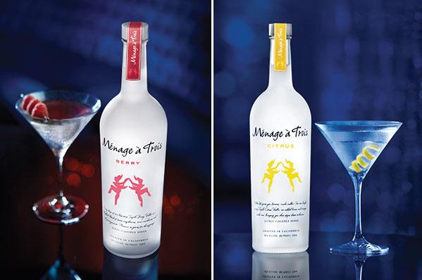 Ménage à Trois Launches a Trio of Vodkas
