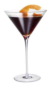 Black Widow halloween cocktail recipe with American Harvest