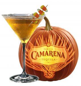 Camarena candy corn cordial Halloween cocktail recipe with Familia Camarena Reposado Tequila
