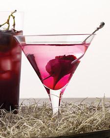 halloween cocktail recipes - bleeding heart martini