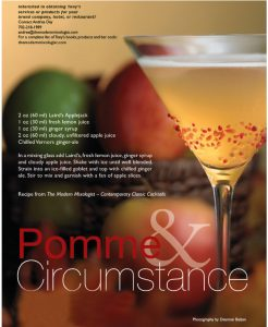 pomme & circumstance cocktail