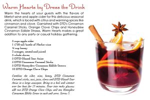 dress the drink - warm hearts cocktail