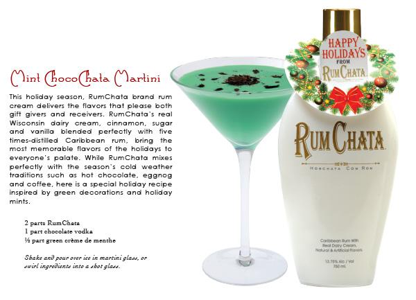 rum chata - mint choco chata martini - in the Mix Magazine