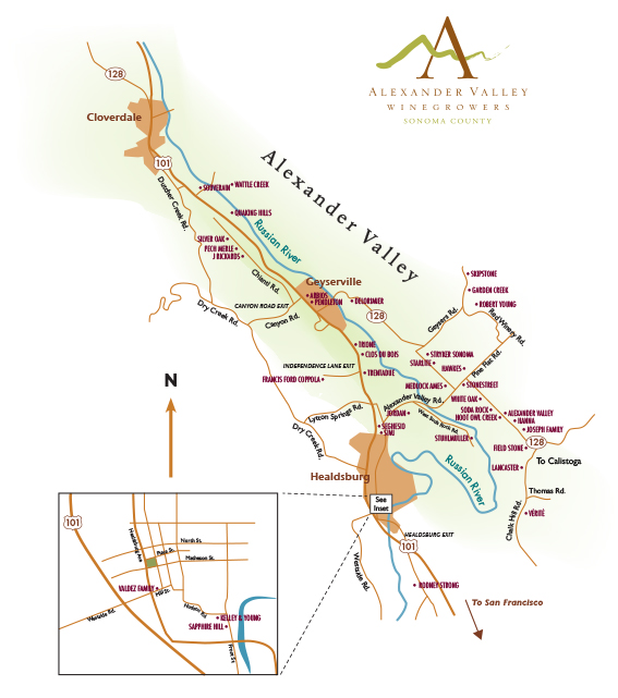2014 Alexander Valley Map