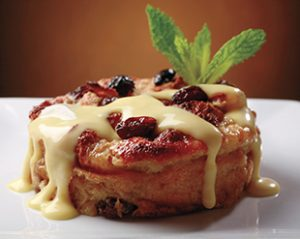 Famous Bread Pudding with Whiskey sauce.