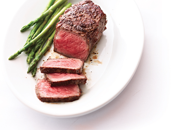 New York Strip steak, Ruth's favorite.