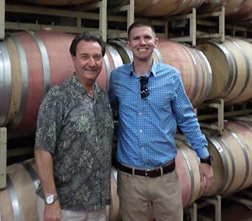 Don Billings with Gallo Senior Wine Ambassador Christopher Read.