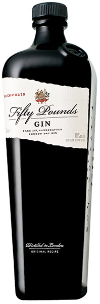 May we suggest, Fifty Pounds, Rare and Handcrafted Small-Batch London Dry Gin