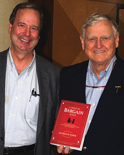 Tim Hanni MW with George Taber, author of The Judgment of Paris and A Toast to Bargain Wines.