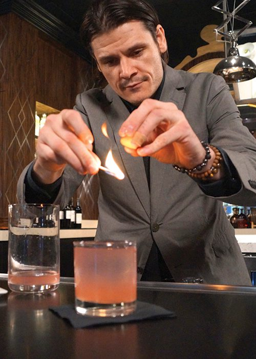 Rx Boiler Room Bar Manager and Mixologist, Eric Smith.