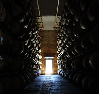 One of the barrel rooms aging Brugal Rum in the Dominican Republic heat.