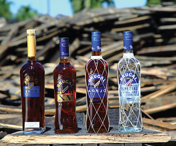 A selection from the Brugal Rum family.