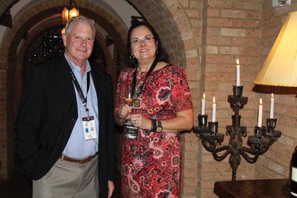 "Mike Raven and Carolyn White of Trinchero Family Estates, enjoying ""The Wine Experience."""