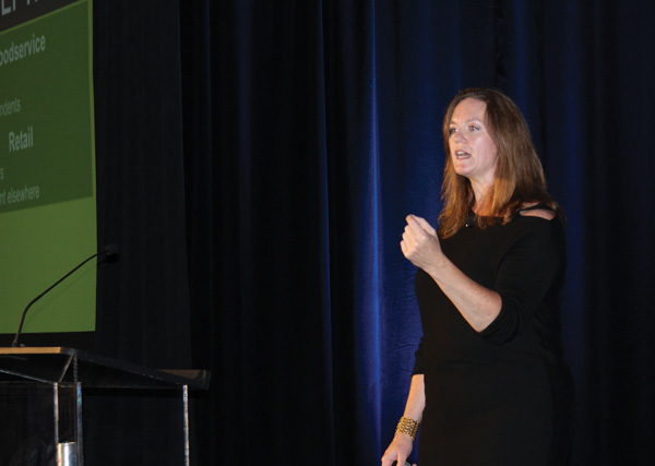 Maeve Webster of Datassential drives home a point about global beverage trends.