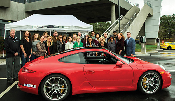 All the IMI team had a hair-raising run around the test track with professional drivers.