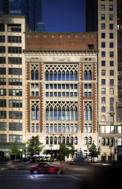 The exterior of the Chicago Athletic Association Hotel. Photos by Thomas Hart Shelby