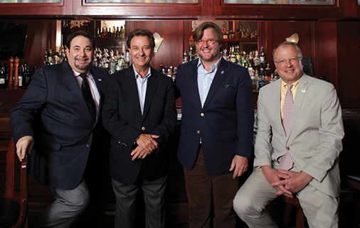 Left to right: Jeff Bartfield, Proximo Spirits; Don Billings, Publisher of in the Mix; Tylor Field lll, Divisional VP of Wine and Spirits, Landry's Inc and John Niekrash, Proximo Spirits. Shot at Morton's The Steakhouse in downtown Atlanta.