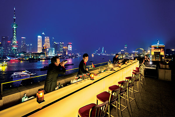 Point of The Peninsula Shanghai – The rooftop bar at the Peninsula Shanghai, Sir Elly's. Photo courtesy of The Peninsula