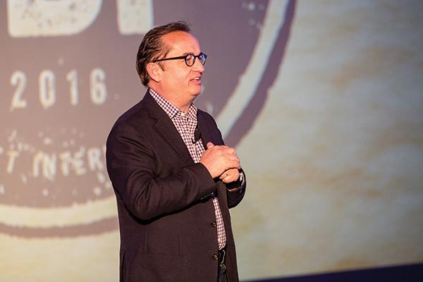 Wolfgang addressing the 2016 Global Beverage Partners Meeting.