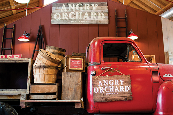 Angry Orchard Innovation Cider House entrance.