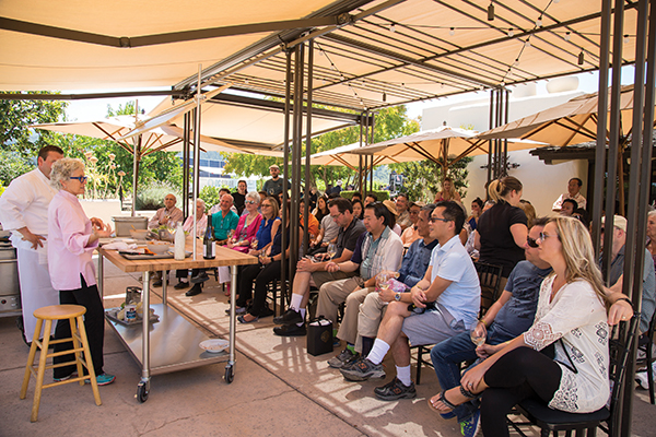 Cooking demonstration by Chef Cindy Pawlcyn, a pioneer in the development of Napa Valley's wine country cuisine.