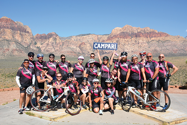 Team Negroni at the Red Rock Overlook, Las Vegas. Best fundraising team!