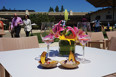 Robert Mondavi Winery Harvest of Joy Rosé pairs perfectly with the passed hors d'oeuvres and summer sun.