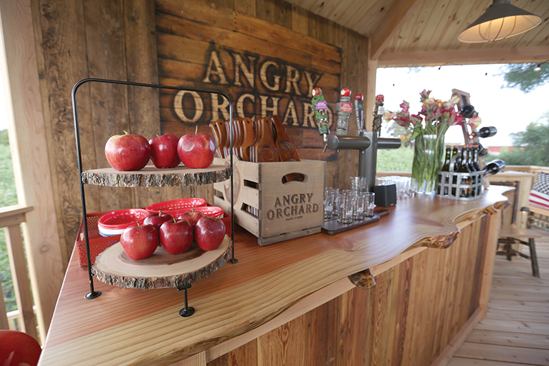 The Angry Orchard treehouse.