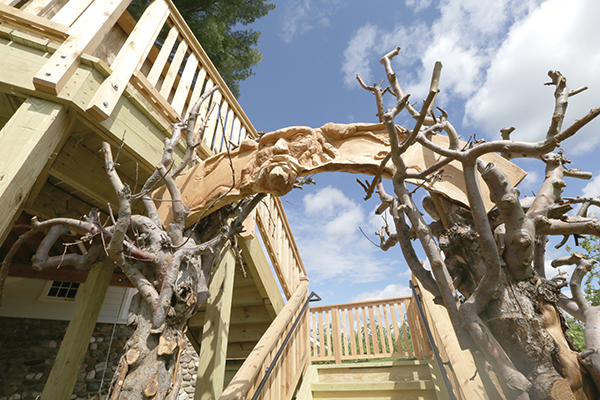 Entrance to the Angry Orchard tree house.