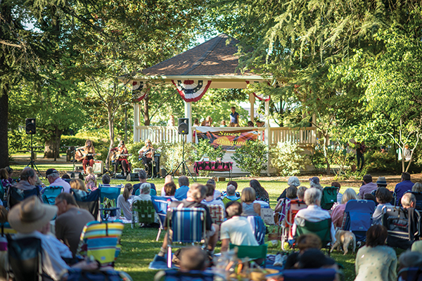 Concert in the park in St. Helena.