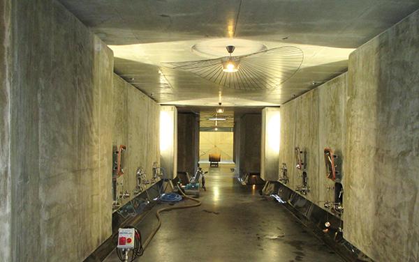 Inside the winery at Lafon-Rochet.
