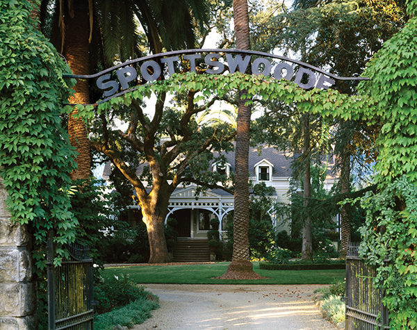 The Entrance to Spottswoode Estate.