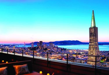 Extraordinary view from the top of the Loews Regency San Francisco.
