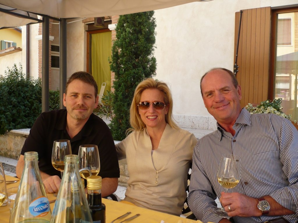 Don and Mary Melton with Jamie Conahan of Folio Fine Wine Partners