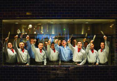 Brazilian-trained gaucho chefs.
