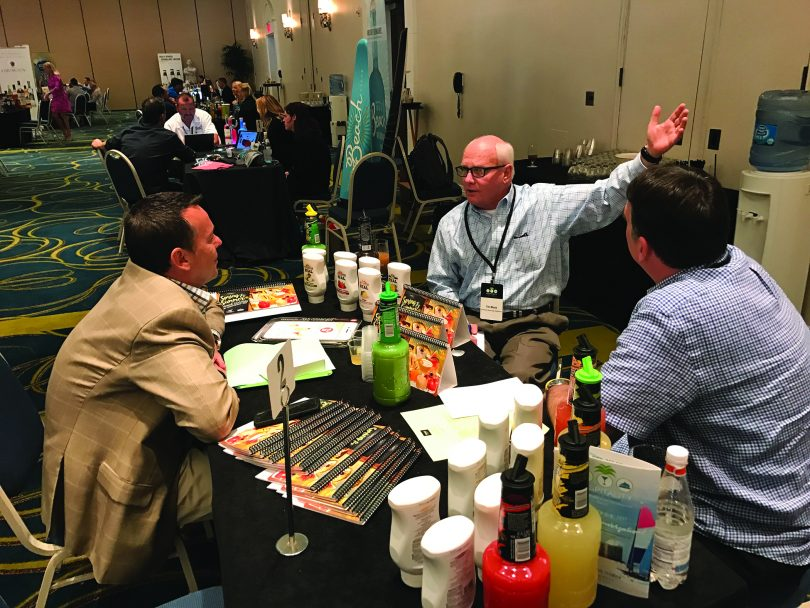 David Morgan, Omni Hotels & Resorts; Tim Black, American Beverage Marketers; and Warren Westcoat, American Beverage Marketers