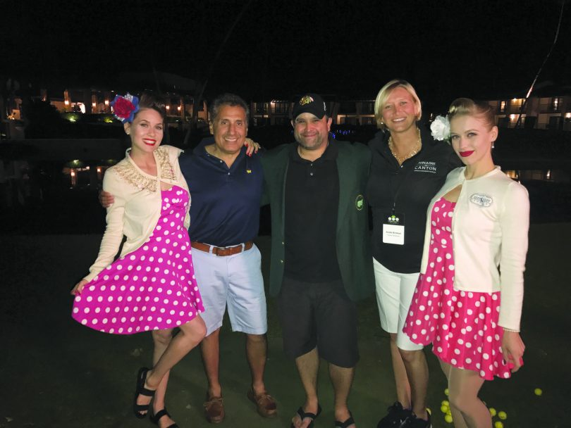 """Deep Eddy's """"Bettys"""" along with Carlos Lozano and Andie Brokaw, Heaven Hill; and Nick Arenas, Levy Restaurants."""
