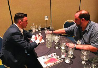 Kurt Newman, Hospitality Glass Brands; and Chris Moran, Kona Grill