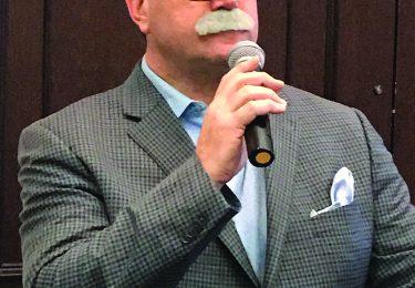 "Mark Crisler, Trellis Wine Group, as Master of Ceremonies and Host of Grapardy, Mark ""Trebek."""