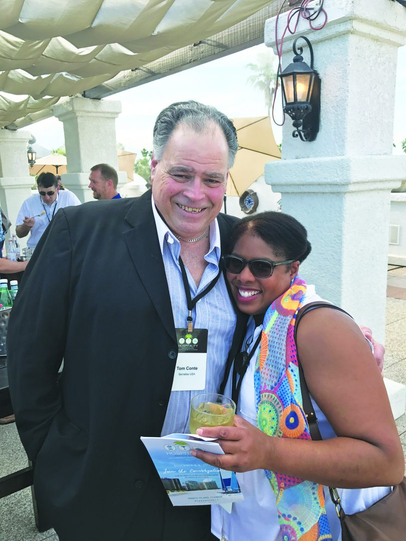 Tom Conte, Serralles USA; and Nichelle Ritter, Consolidated Restaurants