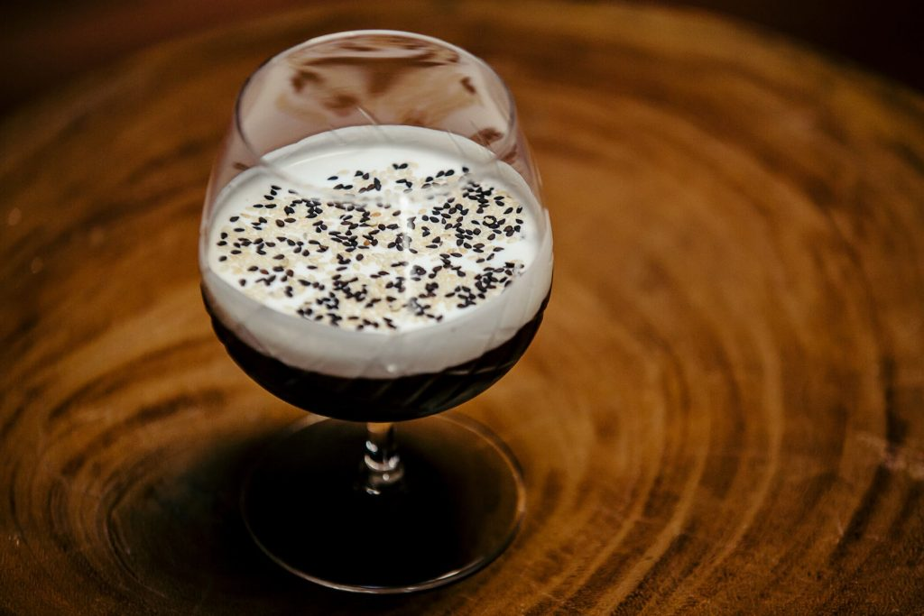 cocktails with sesame
