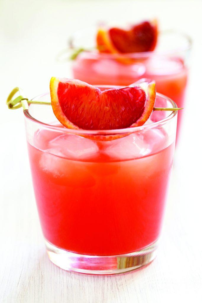 Sparkling Blood Orange Cocktail photo credit Elegant Affairs