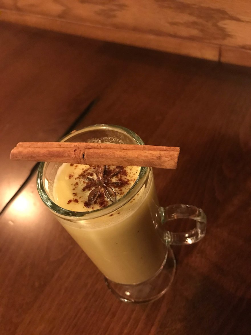 Hot Buttered Cachaca Cocktail