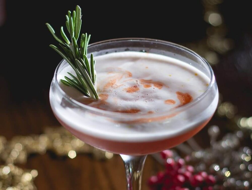 Spiced Cranberry Sour Cocktail