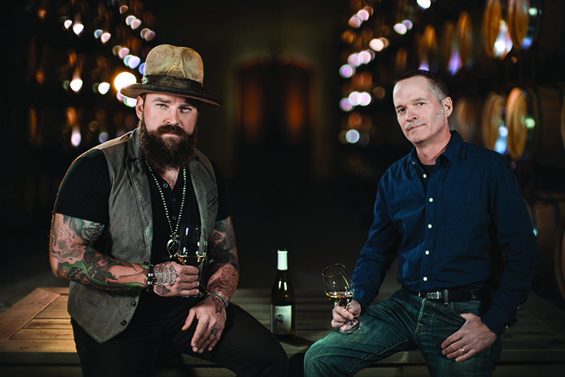 Zac Brown and winemaker John Killebrew