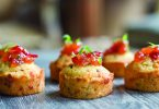 kathy casey -Corn Cakes with Tomato Honey Jam